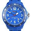 Fila Sportuhr blaues Kautschuk-Armband, blaues Ziffernblatt, blaue Lünette
