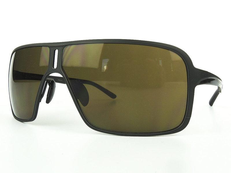 Porsche Design Titan-Sonnenbrille schwarz matt/glänzend, braune ...