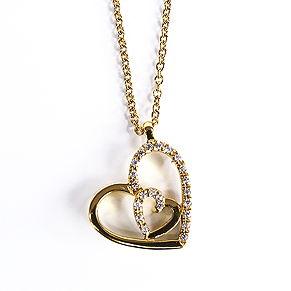 Caster Jewelry - Edle Kette mit goldenem Herzanhänger